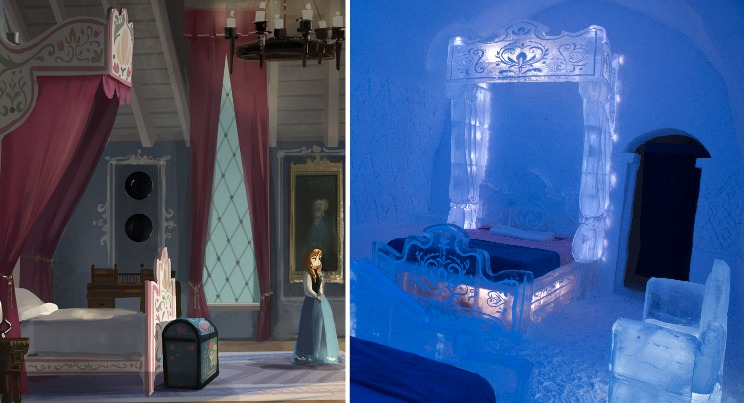 Photos An Ice Hotel Created A Bedroom Just Like The One In Quot Frozen Quot
