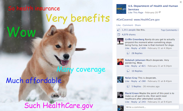 48b5 the day the us govt released their own doge meme to promote healthcare