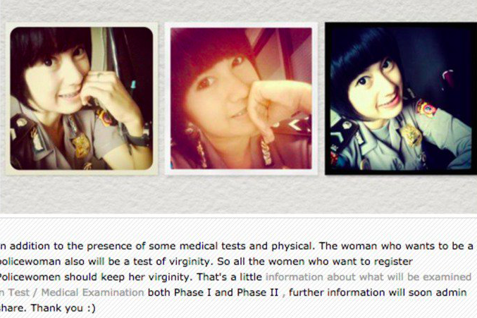 Take A Virginity Test First If You Want To Become A Policewoman In Indonesia-5542