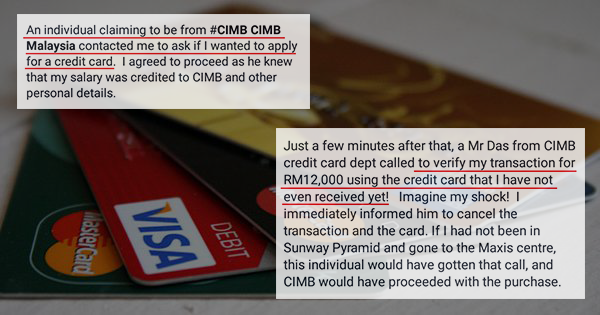 Applying For A Credit Card On The Phone Almost Cost A CIMB Customer