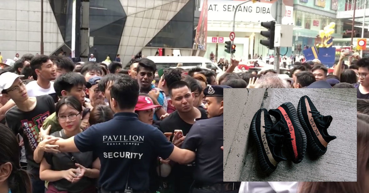 97de80d6c  VIDEO  Malaysians Almost Caused A Riot At The Yeezy Sneaker Raffle In  Pavilion KL