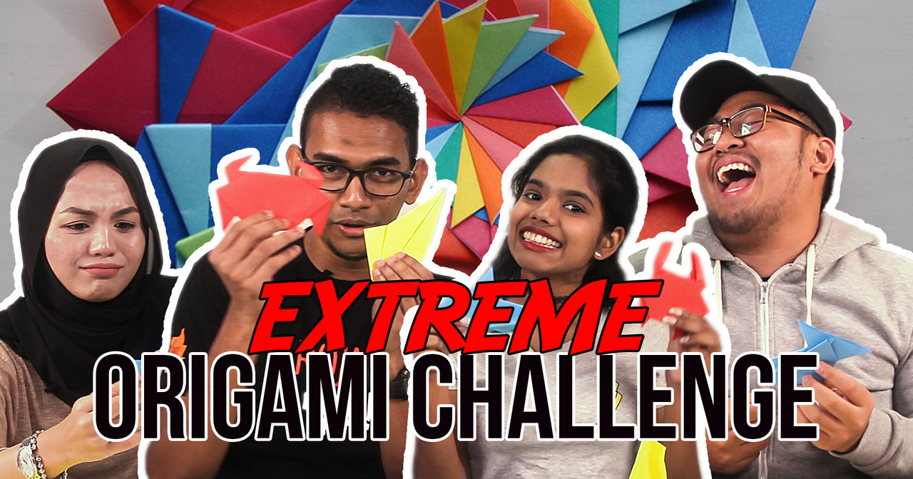 video malaysians try their hands at extreme origami