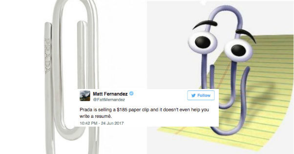 125005f87ca42c Prada Reveals Its New RM800 Paper Clip And The Internet Can't Stop Trolling  It