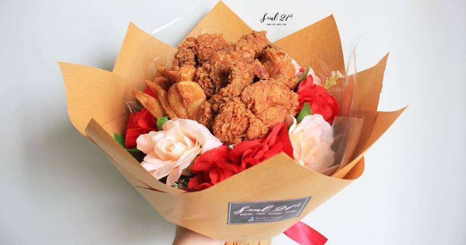 Image result for chicken wing bouquet