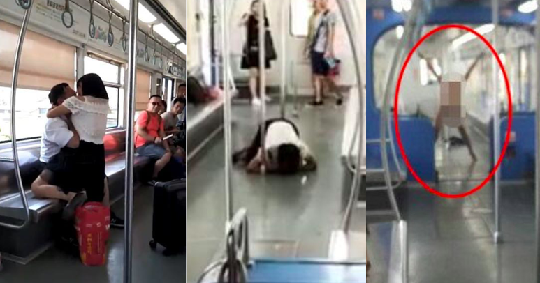 Video Chinese Woman On Subway Bites A Man And Then Licks His Blood Off The Floor-6864