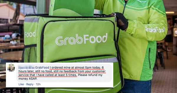 Customers Waited Up To 6 Hours For Food After GrabFood Riders Went