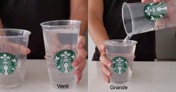 Someone Took A Video Showing A Starbucks Venti And A Grande