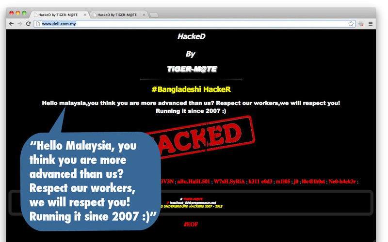 BREAKING] Dell, MSN Malaysia and More Hacked By