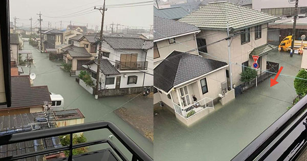 Netizens Are Amazed By Photos Of Clear Floodwaters In Japan Caused By Typhoon Hagibis