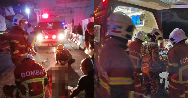 [PHOTOS] 2 Workers Injured After Slab At DASH Highway Construction Site Collapses