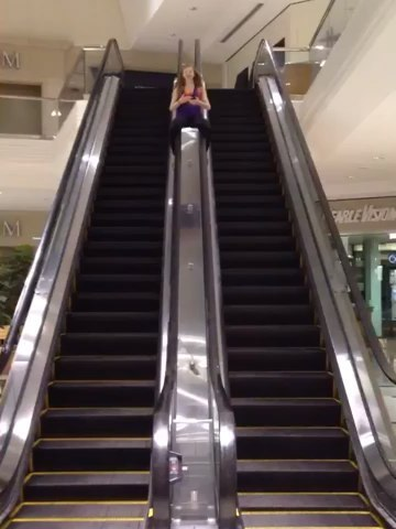 Things people do in an empty shopping mall.