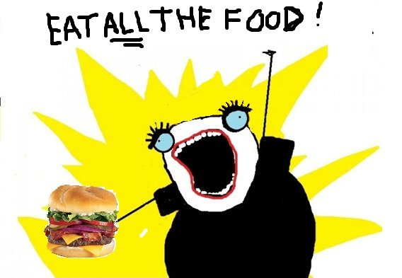 8cac eat all the food meme food