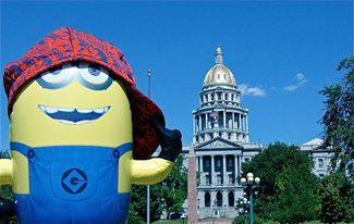 A minion spotted in Denver, US.