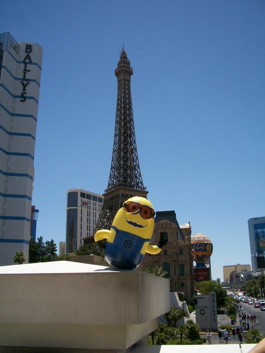 A minion spotted in Las Vegas.
