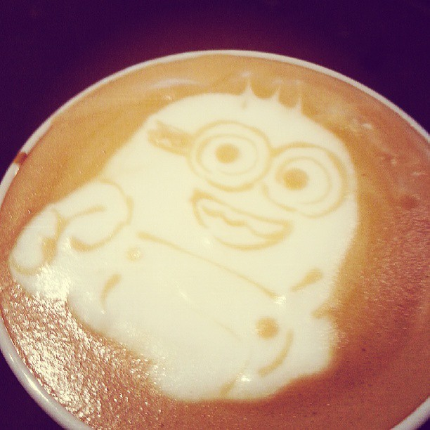"""""""Another #minion craze #latteart by #coffeevalley #barista!"""" - Photo from Coffee Valley, Facebook."""