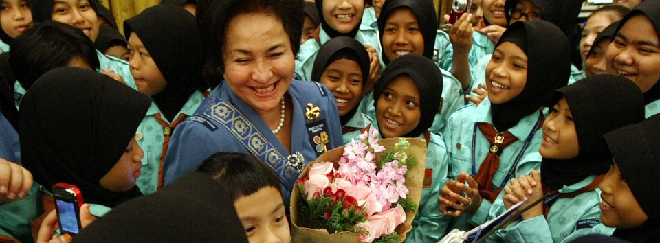 Rosmah is the President of the Girl Guides Association of Malaysia