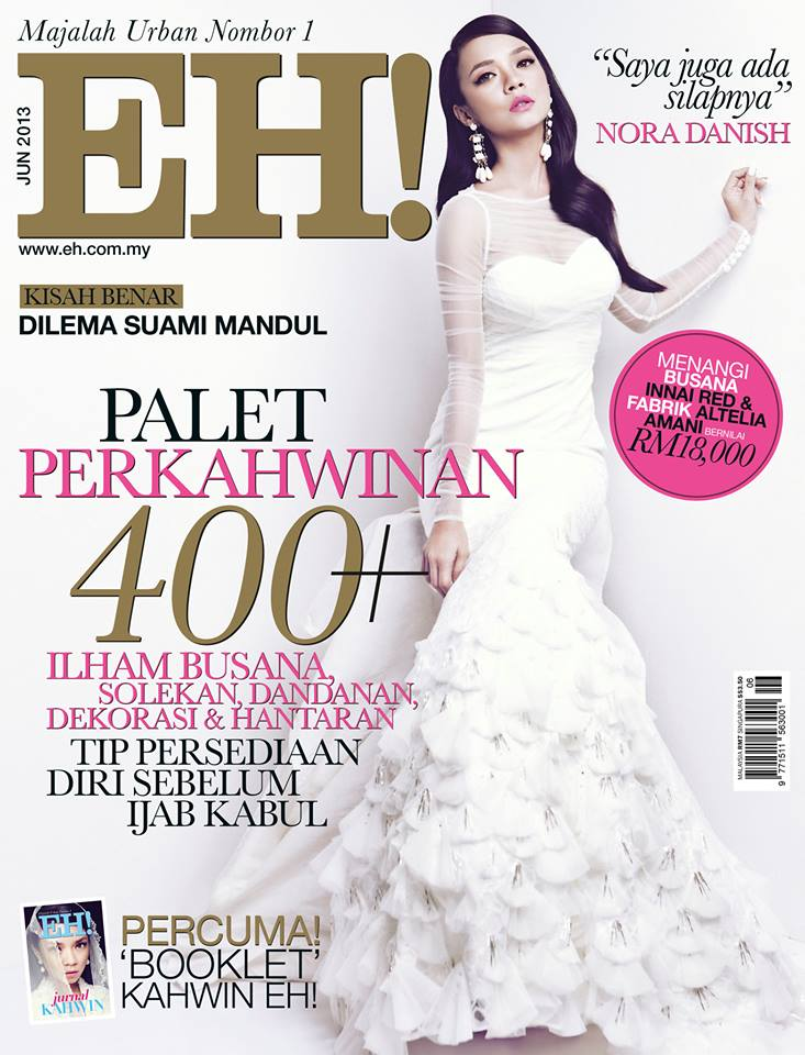 Nora Danish cover girl untuk EH! Jun wedding issue.