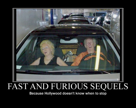 """A """"Fast and the Furious"""" meme about it's 6th and coming prequel."""