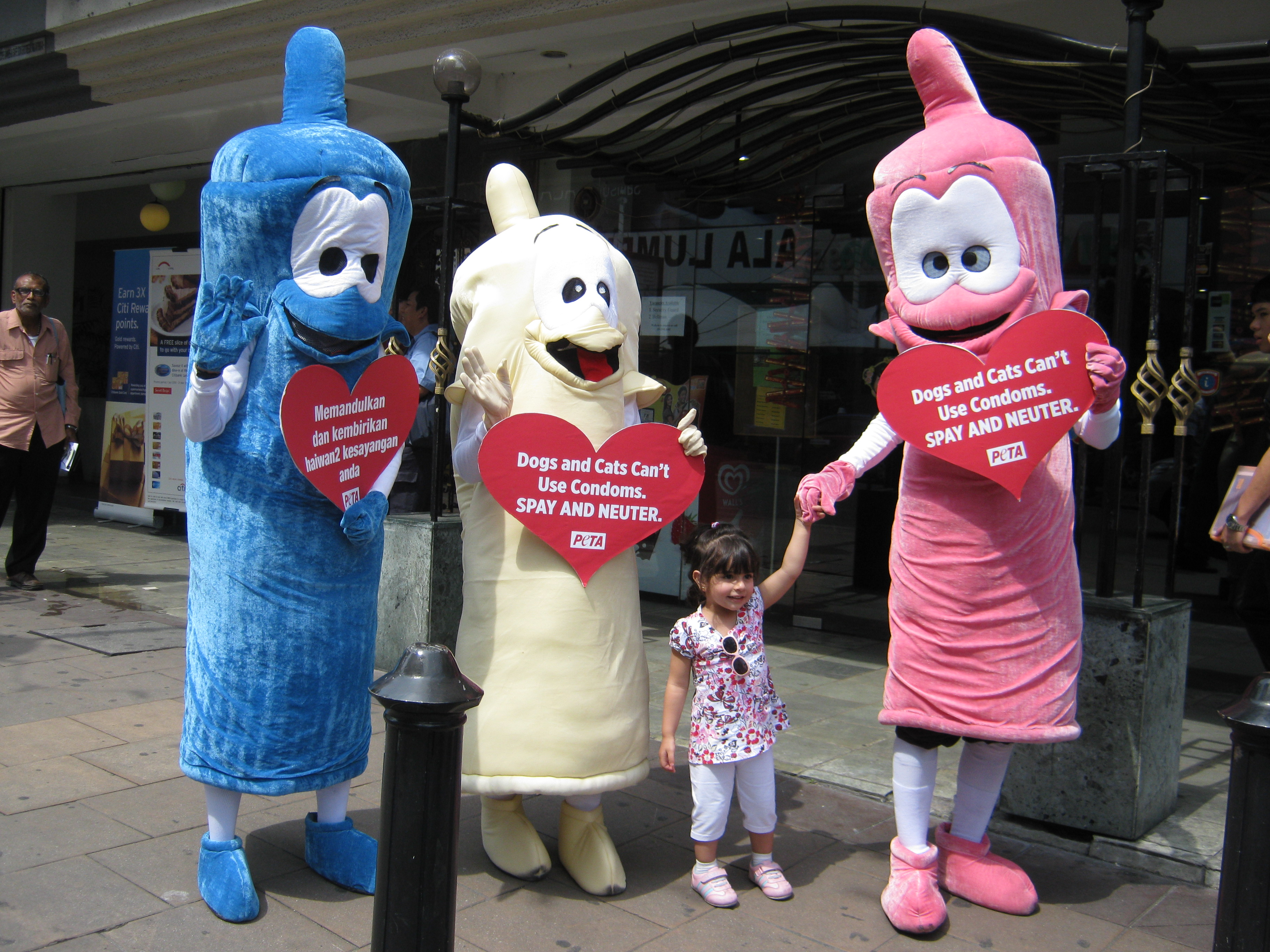 When it comes to HIV,using a condom makes sex 10,000 times safer than not  using a condom Image via petaasiapacific.com
