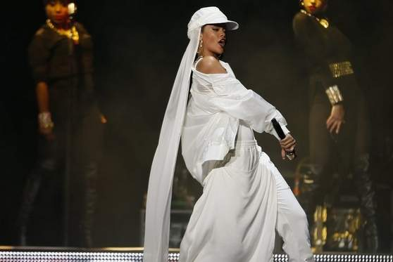 Rihanna performs in concert at Du Arena, Yas Island in Abu Dhabi. Photo from Christopher Pike/The National.