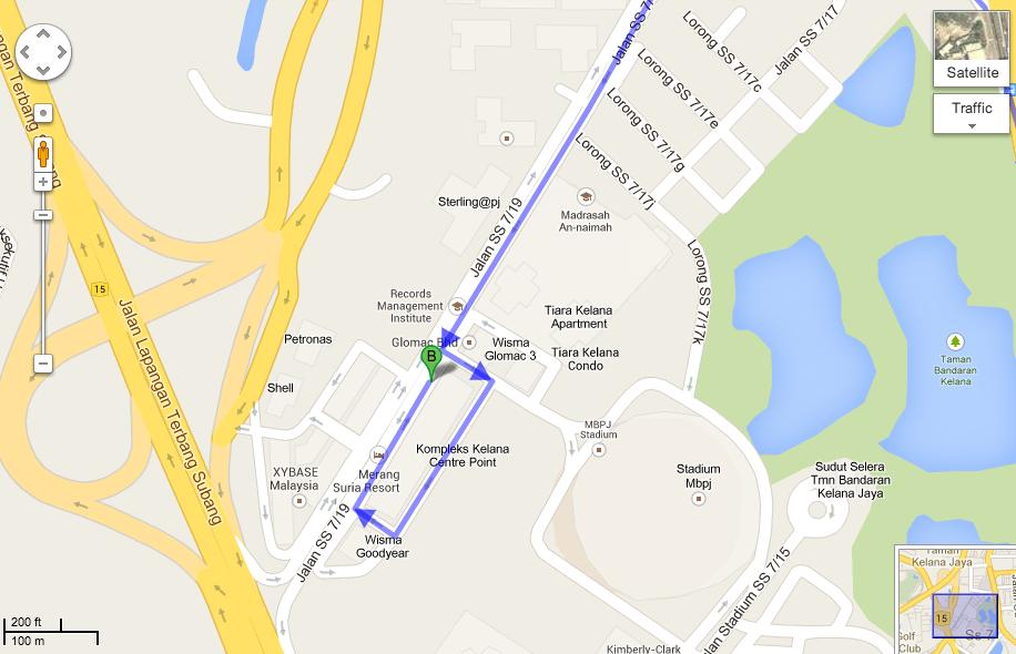 Peta Google alamat palsu AKJM Sdn. Bhd.