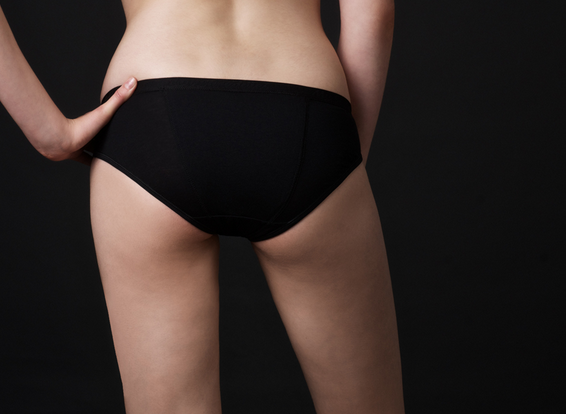 """This style of flatulence filtering underwear fits low on the waist and is cut high on the leg."""