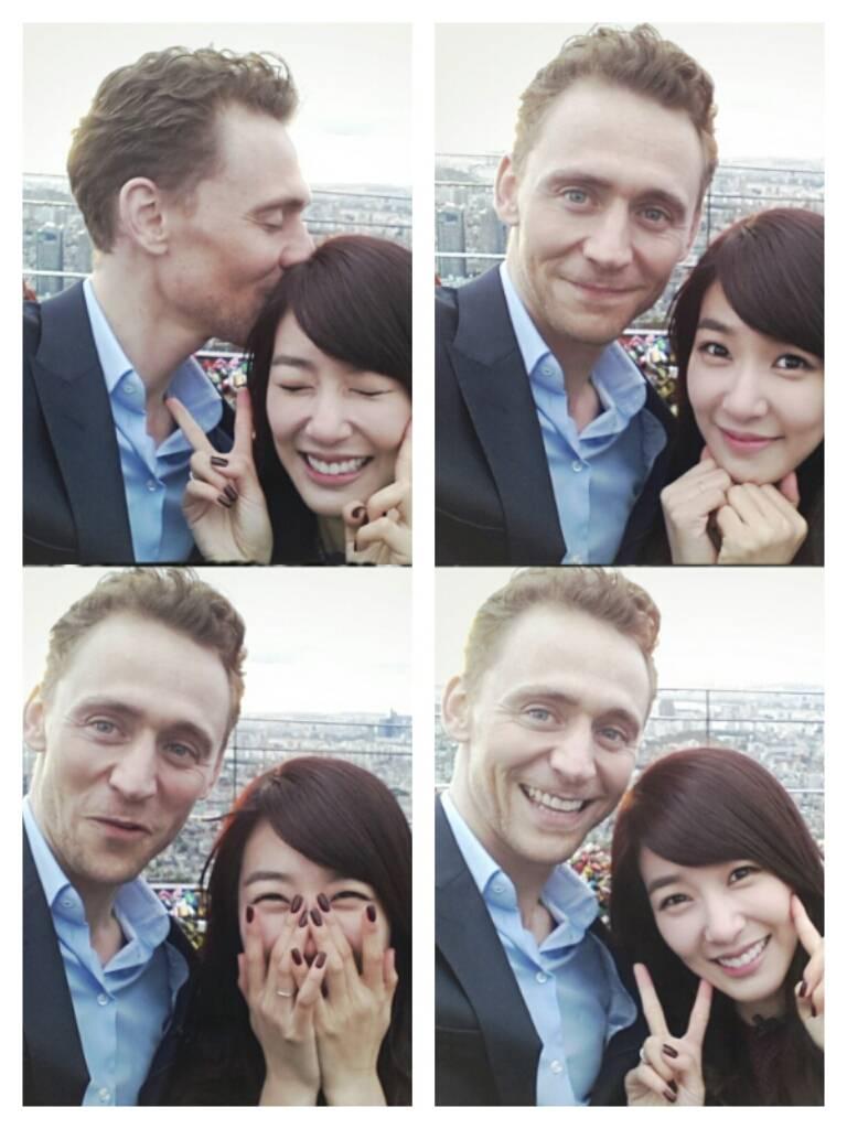 Tom Hiddleston next to SNSD's Tiffany.