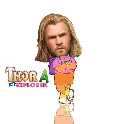Thor-A The Explorer meme.