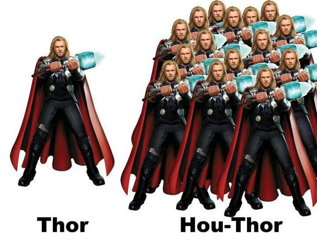 """Hou-Thor"" means many in the Cantonese dialect."