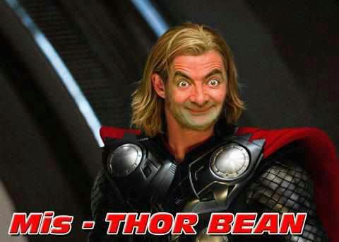 Mis-Thor Bean meme. Mr. Bean is a British situation comedy television programme series of fourteen 25-minute episodes written by and starring Rowan Atkinson as the title character.