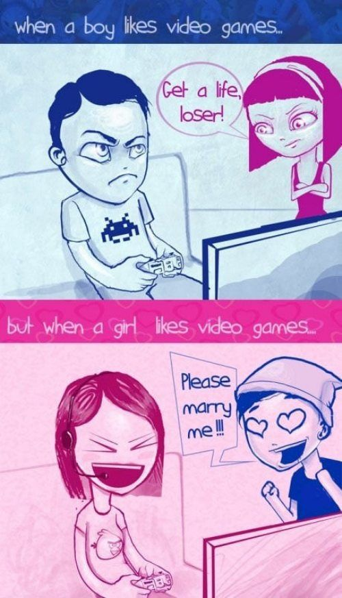 Women think men who play video games are losers while men would marry women gamers