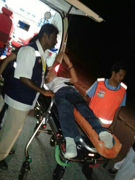 A 58-Year-Old Passenger Broke His Leg When He Was Trapped In The Bus