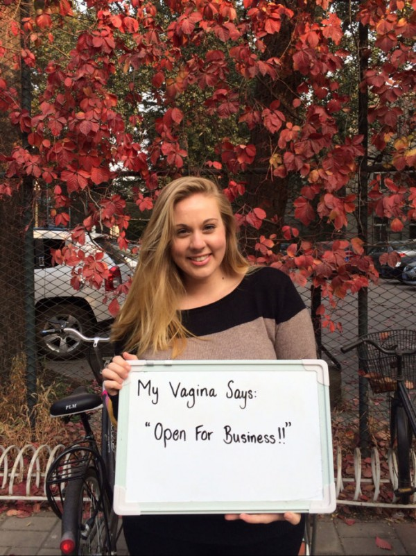 My vagina says: Open for business!