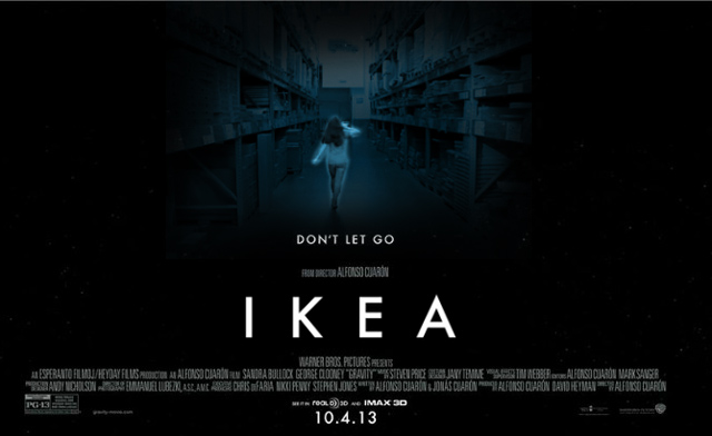 "IKEA parody poster of ""Gravity""."