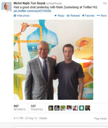 The trigger: Najib says he had a good chat with Mark Zuckerberg at Twitter HQ