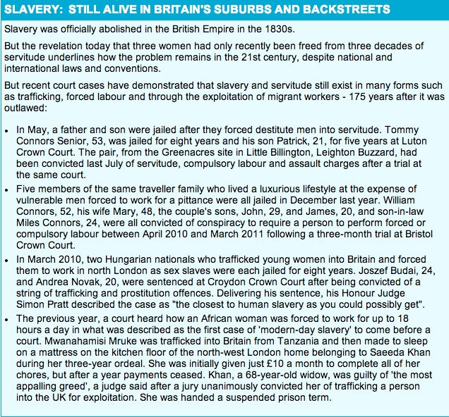 Modern Day Slavery In The Backstreets Of Britain. By The Daily Mail.