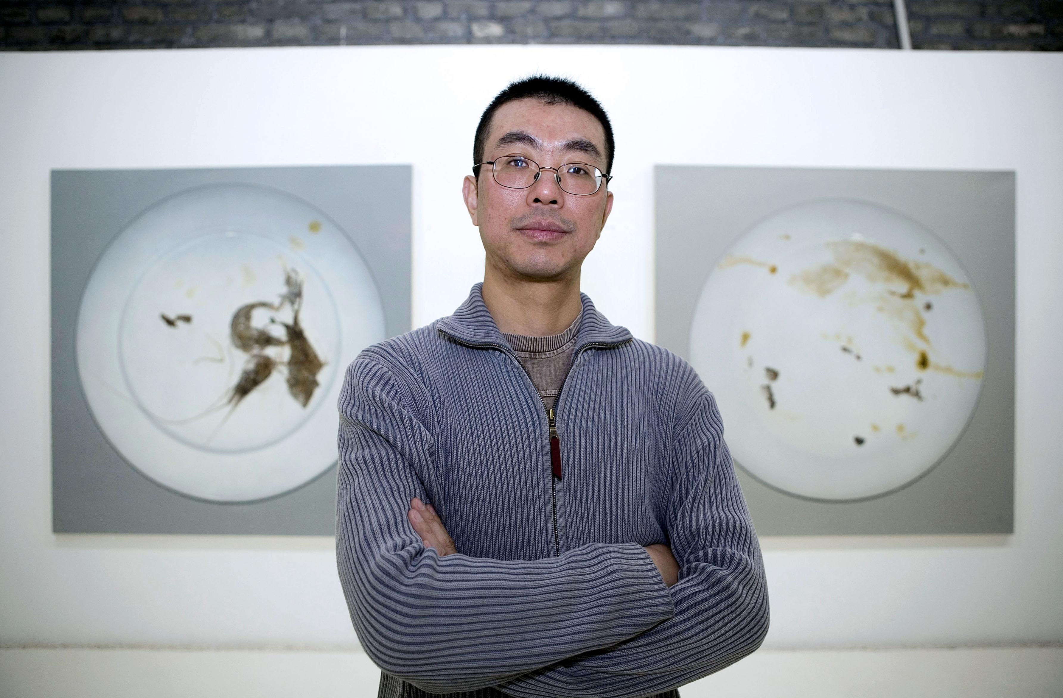 The artist, Zhu Yu.