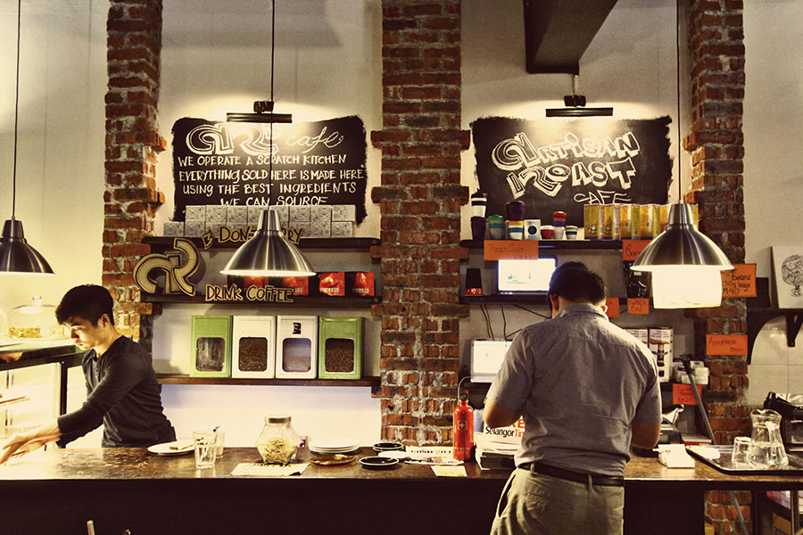 The order and cashier counter of Artisan Roast Cafe. Photo from Siew Yen Photography.