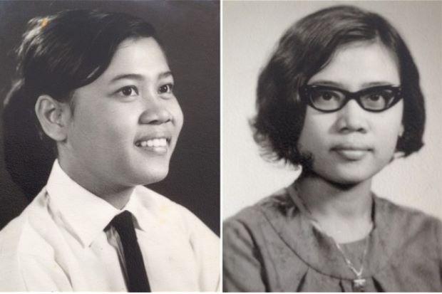 Old photos of Siti Aishah Abdul Wahab.