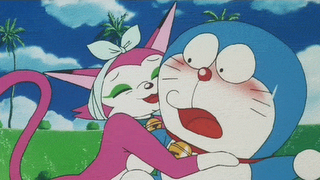 Noramyako was Doraemon's girlfriend, but she broke up with him after the mice ate his ears