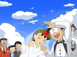 Nobita will eventually marry Shizuka and have a child named Nobisuke