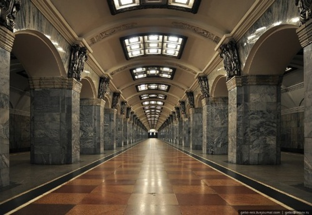 The St. Petersburg subway might not be as majestic as its Moscow counterpart, but it is still impressive. In fact, it deserves a mention simply because it is the deepest subway in the world by the average depth of all the stations.