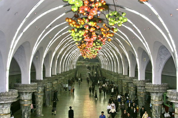 Did you know that the Pyongyang Metro is the deepest in the world? The track runs 360 ft (110 m) underground! This station in North Korea opened in 1987, and since then it has become a national treasure. The metro station is decorated beautifully with ornaments and murals.