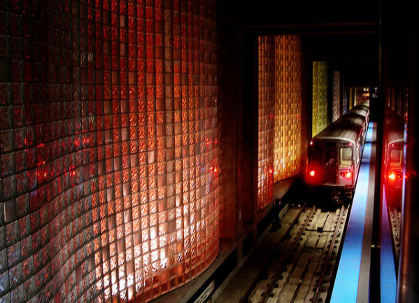 This metro station in Chicago, Illinois is one of America's most beautiful and impressive metro stations, and it isn't hard to see why! Located at O'Hare International Airport, the walls are made entirely from luminous, colored glass bricks. This metro station is definitely well worth the trip!