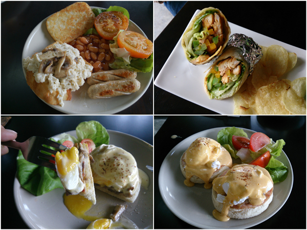 Clockwise from top left: Hearty Breakfast, Fajita TLP Stye and House Egg Ben. Photo from Peaceonearth-poe.