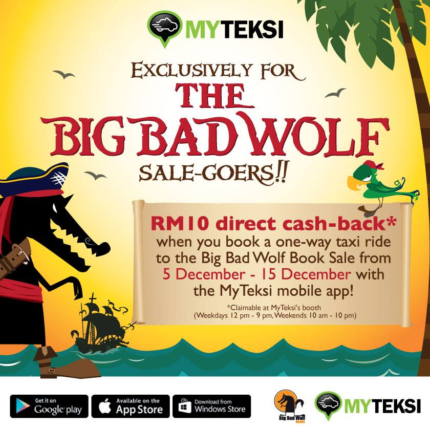 You will be travelling to the venue by taxi, you can get a RM10 cash back when you use MyTeksi.