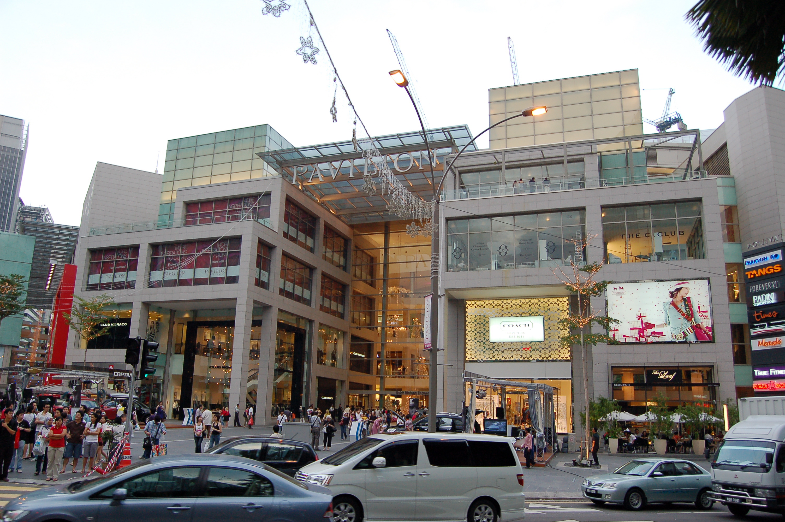 Pavilion shopping mall.
