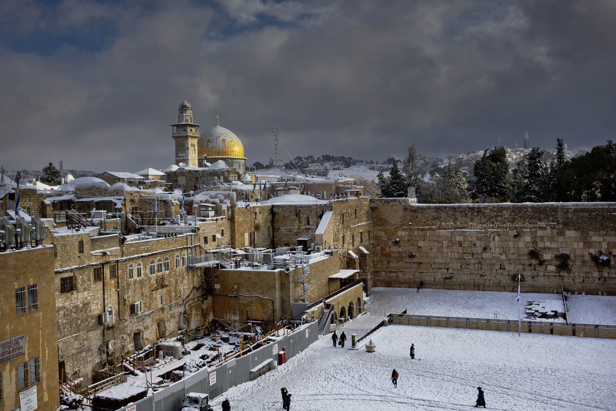 Early snow has surprised many Israelis and Palestinians as a blustery storm, dubbed Alexa, brought gusty winds, torrential rains and heavy snowfall to parts of the Middle East.
