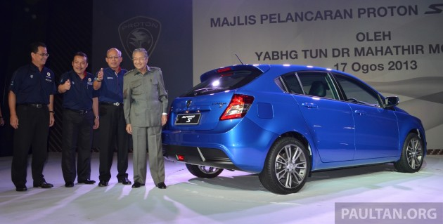 The Proton Suprima S was launched on Saturday, 17 August 2013, by Tun Dr Mahathir