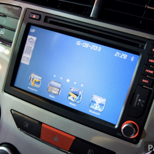 The system offers Wi-Fi connectivity off a mobile phone or portable hotspot, allowing Internet on the go, though for safety reasons the DVD player and Wi-Fi-based browsing can only be accessed when the handbrake is engaged.